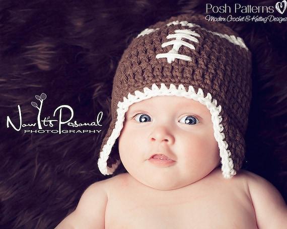 Crochet PATTERN Football Hat Pattern Crochet Pattern Hat  46428db57