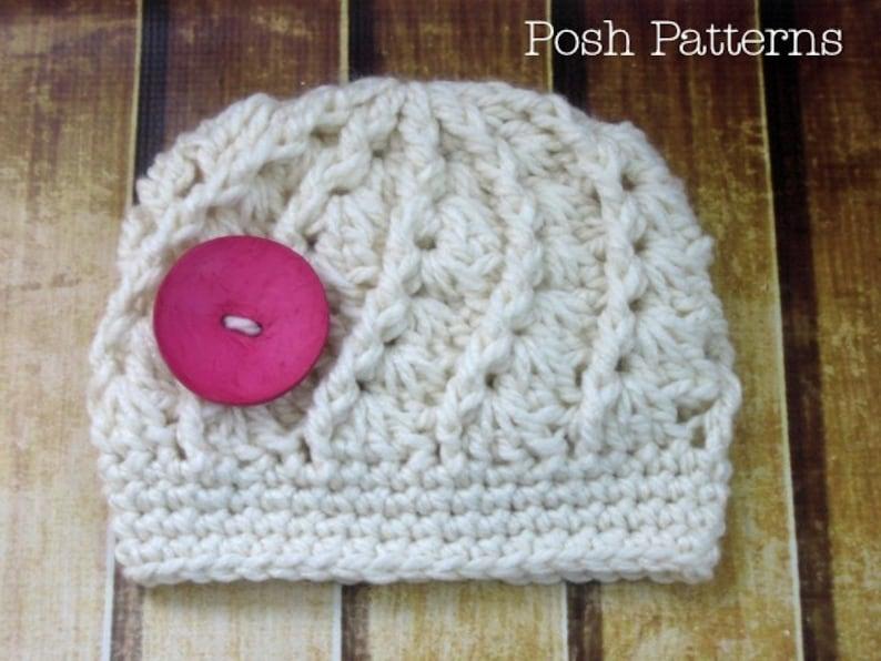 bc4f4d2b5cd Crochet PATTERN Spiral Shell Hat Crochet Pattern Crochet