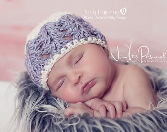 Crochet PATTERN - Crochet Hat Pattern - Lace Hat and Flower Pattern - Crochet Baby Hat Pattern - PDF 117 - Includes 6 Sizes Newborn to Adult