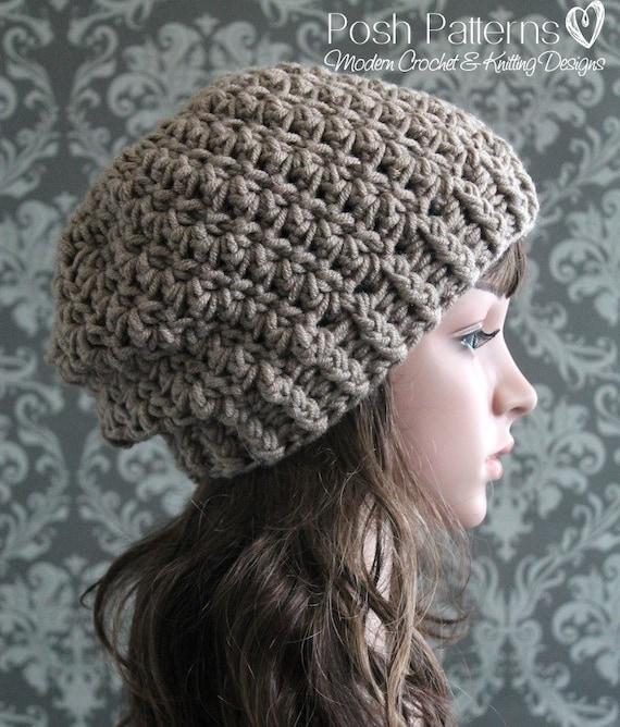 072d4b911d7 Crochet PATTERN Slouch Hat Crochet Pattern Crochet Hat