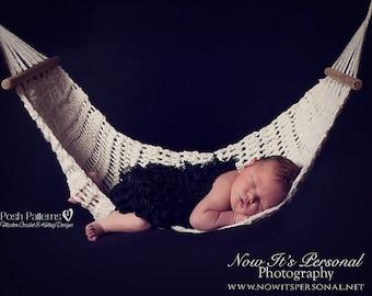 Crochet PATTERN - Newborn Hammock Crochet Pattern - Crochet Patterns - Crochet Patterns for Babies - Photography Prop Pattern - PDF 265