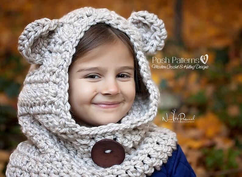 Crochet PATTERN Hooded Cowl Pattern Crochet Hood Crochet  9127e18d0daf