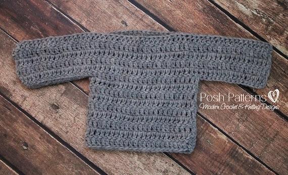 Crochet Pattern Crochet Baby Sweater Pattern Easy Crochet Etsy
