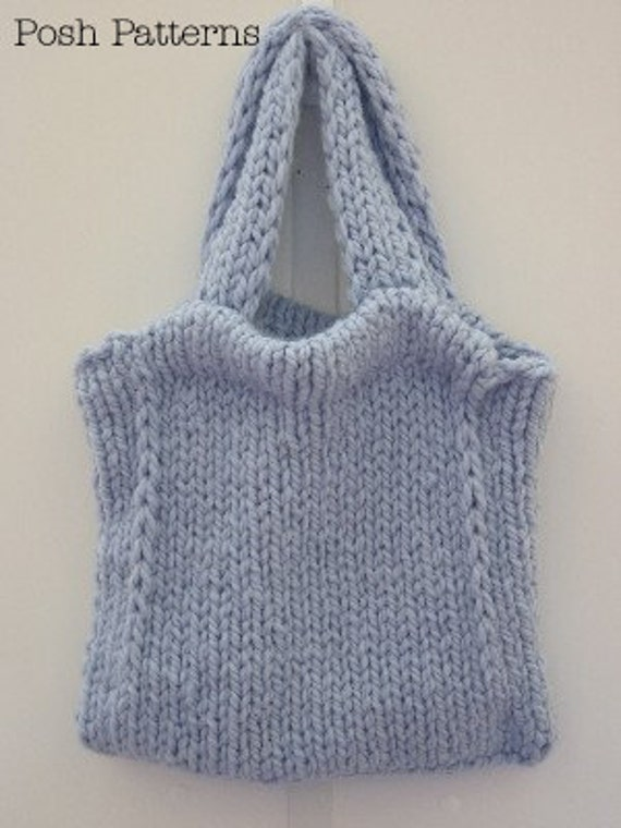 Knitting Pattern Tote Bag Knitting Pattern Handbag Etsy