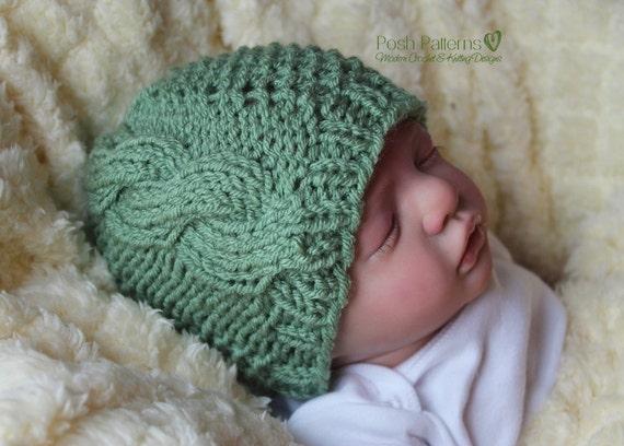 Knitting Pattern Knit Cable Hat Pattern Knitting Patterns Etsy