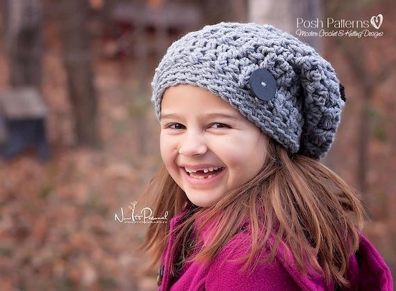 Crochet Patterns Slouchy Hat Crochet Pattern Crochet Hat Etsy