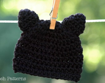 CROCHET PATTERN - Crochet Cat Hat Pattern - Cat Hat Crochet Pattern - Crochet Patterns - Baby, Toddler, Kids, Adult Sizes - PDF 279