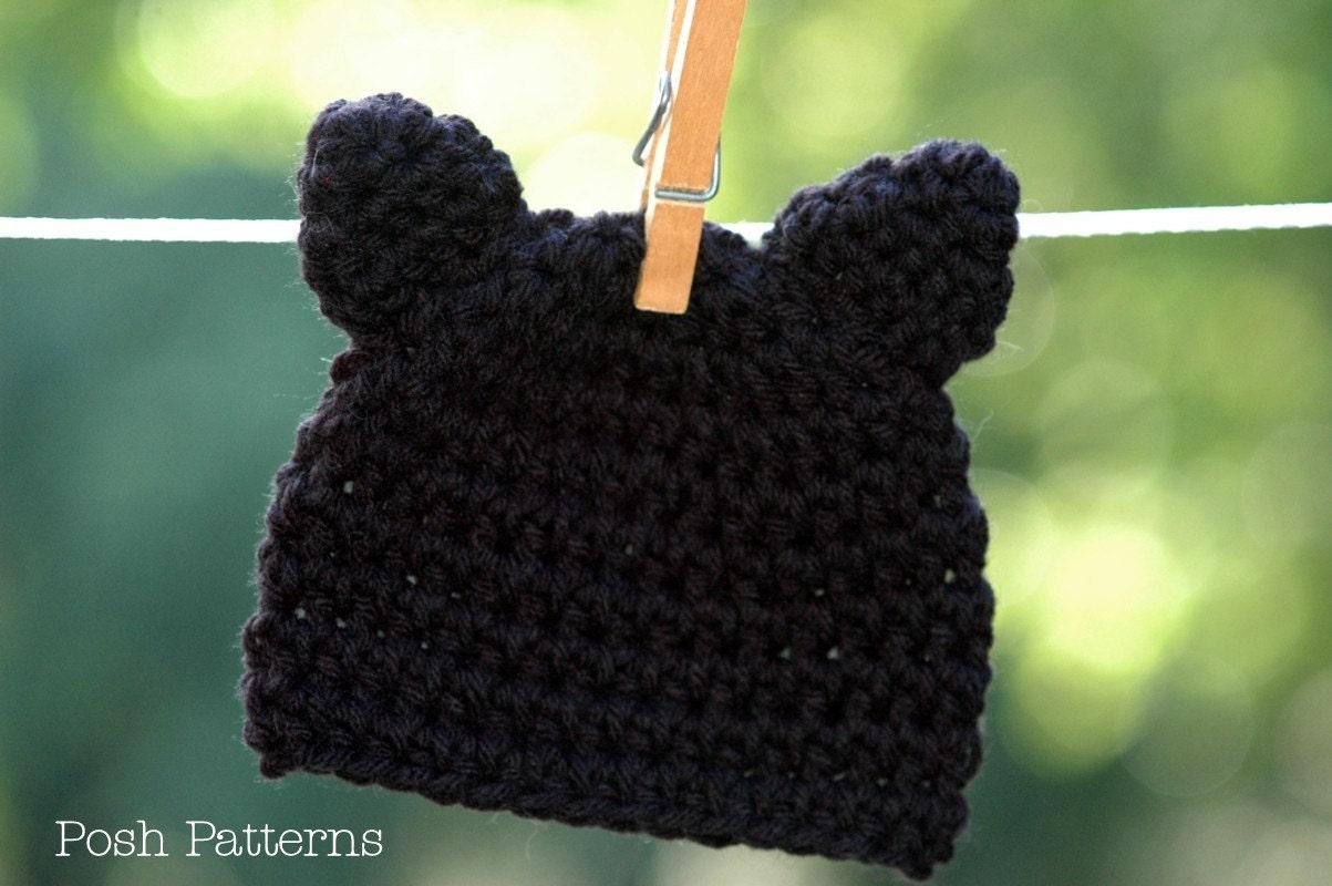 Crochet Pattern Crochet Cat Hat Pattern Cat Hat Crochet Etsy