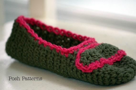 Crochet Pattern Easy Crochet Slippers Pattern Crochet Etsy