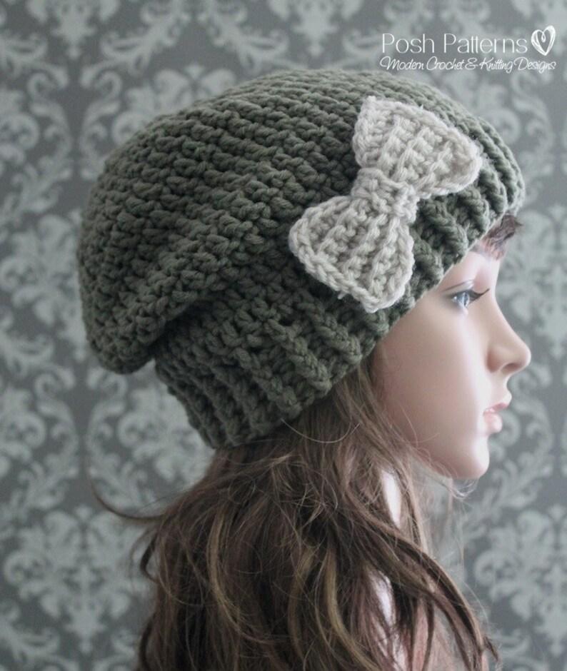 Crochet PATTERN Womens Slouchy Hat Pattern Crochet Hat  64fc7d215ddd