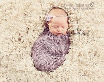 Knitting PATTERN - Sleep Sack Pattern - Snuggle Sack Pattern - Easy Knitting Pattern - Swaddle Sack Pattern - Newborn Pattern - PDF 356