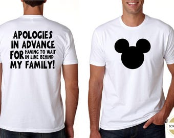 Dad Disney Family Shirts Disney Land Disney World Family Vacation Matching Funny Tshirt Shirt Men