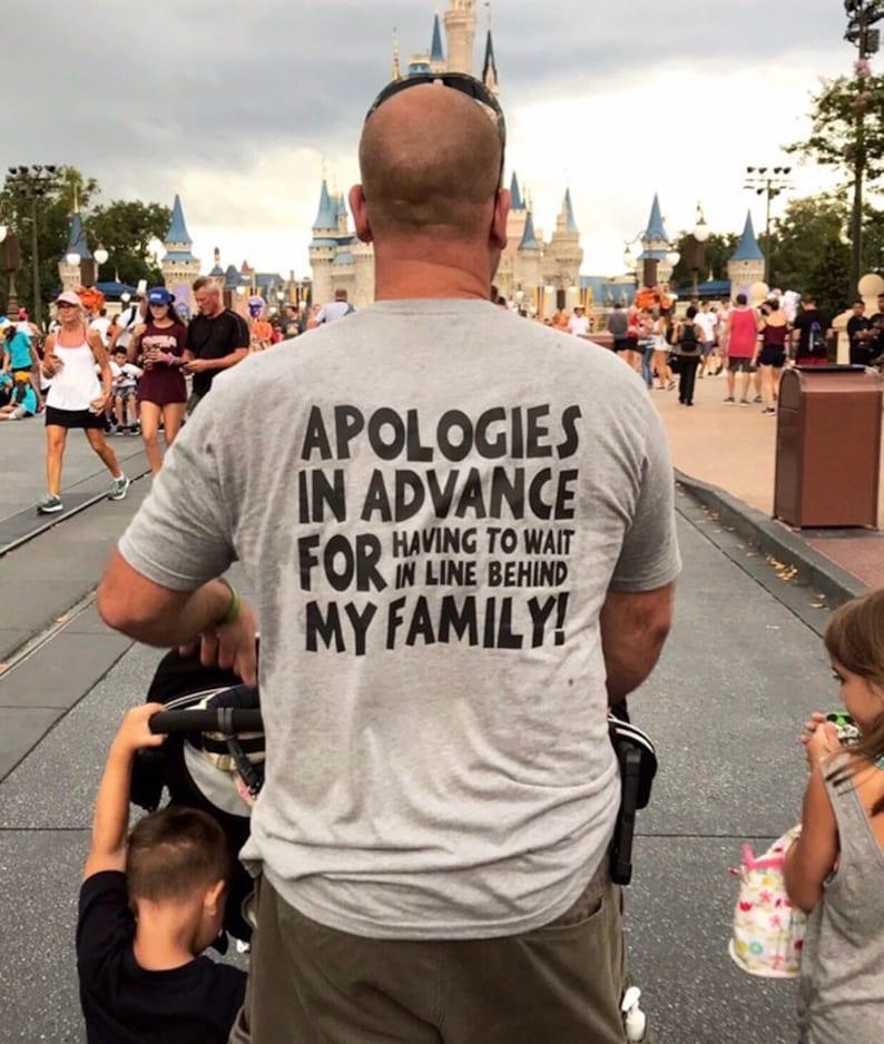 cd37ade0 Adult Disney Family Shirts Disney ShirtsApologies for my | Etsy