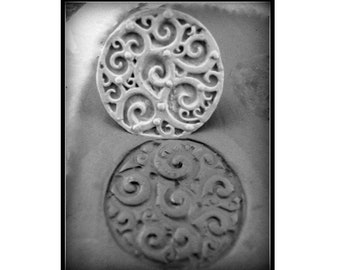 Large hand carved bisque clay stamp for stoneware clay, polymer clay, metal clay, and crafts. ( 37 )