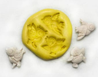Angel mold , angle silicon mold, Silicone mold ,push mold, food supplies mold, clay supplies molds, # 66  s