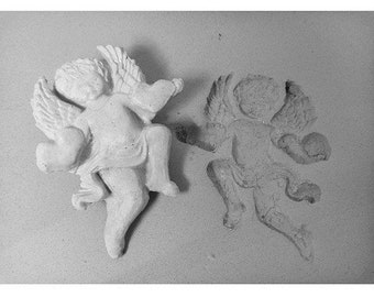 Angel stamp - bisque stamps -ceramic stamps -clay stamps -pottery tools -metal stamps -soap stamps - Cherub Angle stamp -  (250)