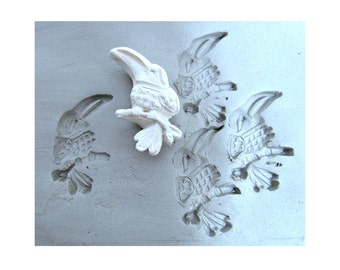 bird stamp -, Hand carved Stamp, Pattern Tool, Bisque Stamps - Pottery Supplies, clay stamps,    (238)