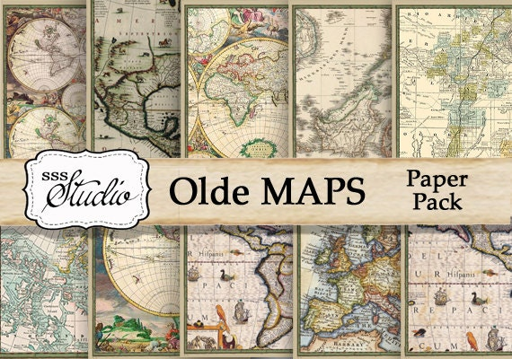 Olde maps vintage maps old world maps digital antique maps etsy image 0 gumiabroncs Gallery