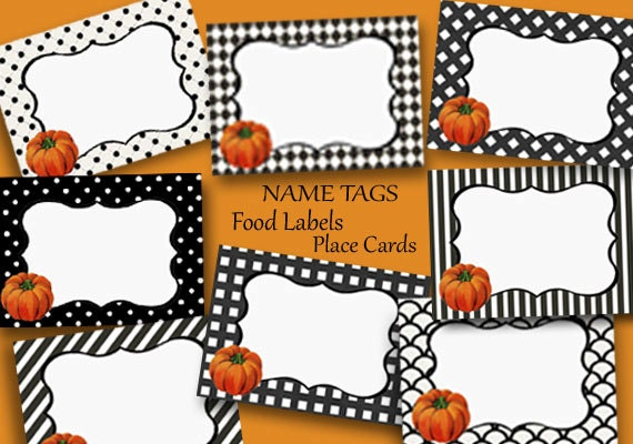 It is an image of Printable Thanksgiving Name Cards for leaf