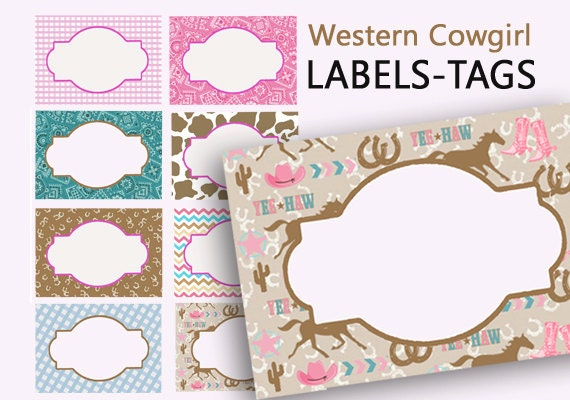 image about Printable Name Tages called Cowgirl Labels, Printable Track record Tags, Western Bash, Southwestern Labels, Electronic Foods Labels, Birthday Bash, Printable Labels, Point Playing cards