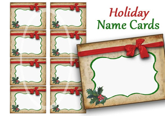 It is a picture of Priceless Christmas Name Tags Printable