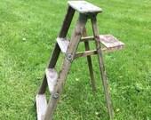 Vintage Step Ladder 4 steps
