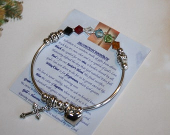 Swarovski Crystal Salvation Rainbow Bracelet, Mothers Day Gift