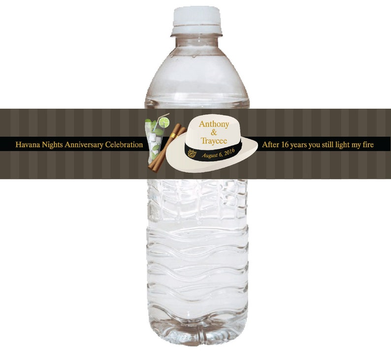 1957 100 Quantity Listing for HN Water Bottle Labels