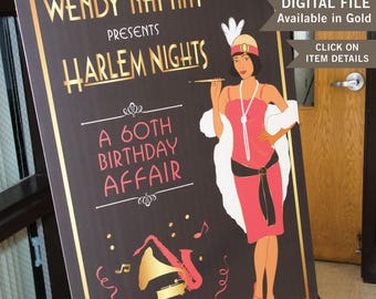 Harlem Nights Welcome Sign 11 X 17 - 24 x  36 or 20 X 30 - DIGITAL FILE Before purchasing click on Items Details