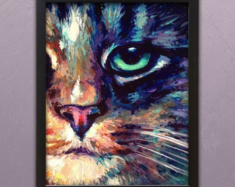 """Holographic Art Print - """"The Face of Carter"""""""