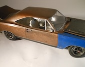 Scale Model Car,Rat Rod,Bronze Mopar,Rusted Wreck,1/24 Scale,John Findra,Classicwrecks.