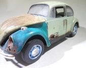 ModelCar, OOAK, VW Beetle, GermanCar, RatRod, JunkerModel, JunkYard, ScaleModelCar