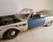 Classicwrecks,Scale Model Car,Ford Thunderbird,Junked Car,White Wreck,PaintPatina