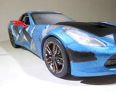 Scale Model Car,Camouflage,Corvette,Plastic Model,RatRod,1/24Scale,WarHammer