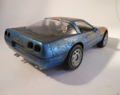 Rusted Scale Model, Corvette, Classicwrecks,Scale Model  Car,  Blue Vette