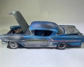 Chevy impala, 124scale, ratrod, ooak, Classicwrecks, junkermodel, barnfind modelcar, barnfind modelcar, Musclecar, supersport.