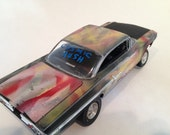 Scale model car,air brush art,junker car,classicwrecks
