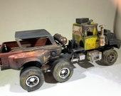 Scalemodel,ratrod,124scale,apocalypse,junkermodel,junkyards,vampires,rustedwreck, ooak ,toy truck