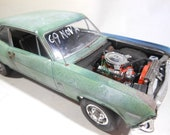 124Scale,GreenNova,OOAK, ChevyNova, VintageCar, Classicwrecks, PaintPatina