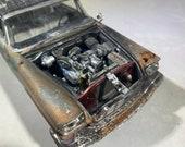 124scale model,ratrod,ooak,barnfind,rusted decor, junkermodel,junkyard,Chrysler, moparmuscle
