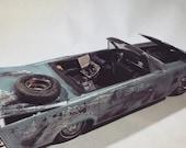 Lincoln model car, scale model , apocalypse , 124scale , ooak , junkyards , barnfind, ratrod