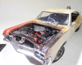 ClassicWreck,Chevy Impala,ScaleModel,OOAK,124Scale,RustedWreck,RatRod, 1:24