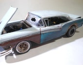 ModelCar, OOAK, RatRod, 124Scale,  JunkerModel,Barn Find, ModelHobby, RustedCar, JunkYard,scalemodel car