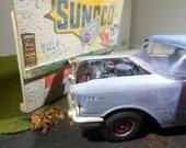ModelCar, OOAK, Classicwrecks,Diorama,  RatRod, ScaleModel, 1957 Chevy, BarnFind