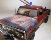 Ford Truck,Fire Truck,RatRod,JunkYard.ScaleModel,FireHouse,RedTruck,124Scale, ModelHobby,Firehouse,JunkerModel,FireTruck