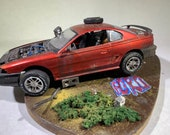 ModelCar, Ford Mustang ,Scale Model Car, Model ToyCar, Classicwrecks,Barn Find,Rusted Car,OldSchool