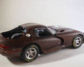 Dodge Viper,Scale Model Car,Dark Red,Classicwrecks,Rat Rod,RustyCar,BarnFind,ClassicCar