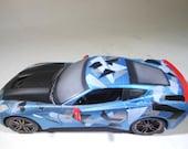 Scale Model Car,Camouflage,Corvette,Plastic Model,RatRod,1/24Scale,WarHammer