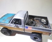 ScaleModel,OOAK,124Scale,GmcTruck,PickupTruck,RustedWreck,ToyTruck