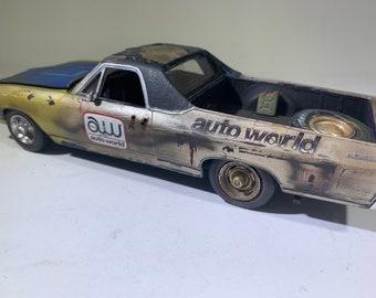 1/24 scalemodel, ooak, Classicwrecks, junkermodel, barnfind model, 1968 el camino, plastic model, classic car.